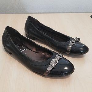 AGL black cap toe ballet flat 39/ 8.5.-9 US